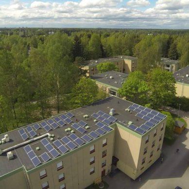 Kerrostaloyhtiöstä tuli aurinkosähkön tuottaja