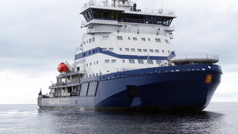 Maailman ensimmäinen LNG-käyttöinen jäänmurtaja Polaris luovutettu