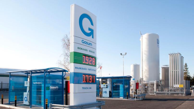 Gasum panostaa kaasutankkausasemien verkoston rakentamiseen