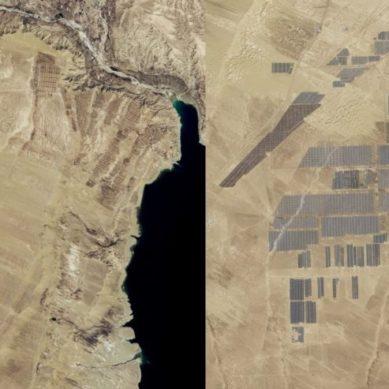 NASAn kuvat näyttävät Kiinan 850 MW Longyangxia-aurinkopuiston kehityksen
