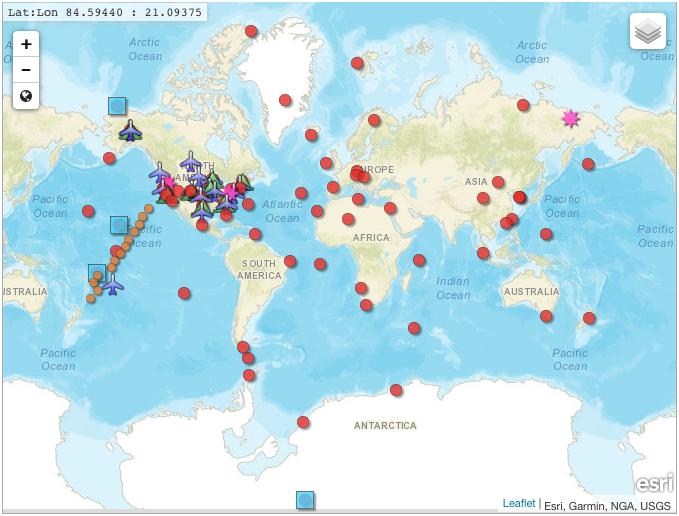 NOAA-mittauspisteet