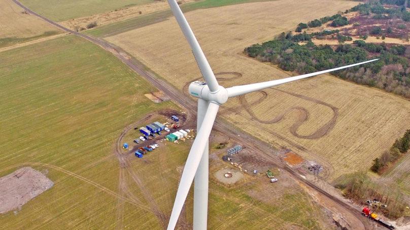 Heikkojen tuulten tuulimylly testikäyttöön Saksassa