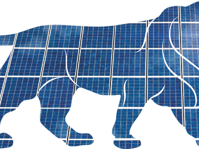 Aurinkosähkön hinta jatkaa laskuaan Intiassa.